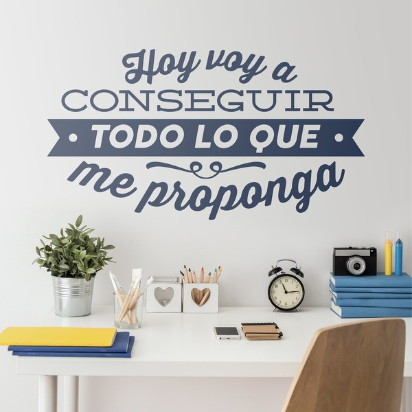 Stickers muraux: Hoy voy a conseguir