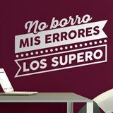 Stickers muraux: No borro mis errores, los supero 2