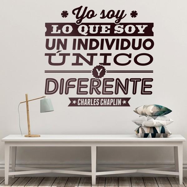 Chambre En Espagnol: Sticker Mural Yo Soy Lo Que Soy