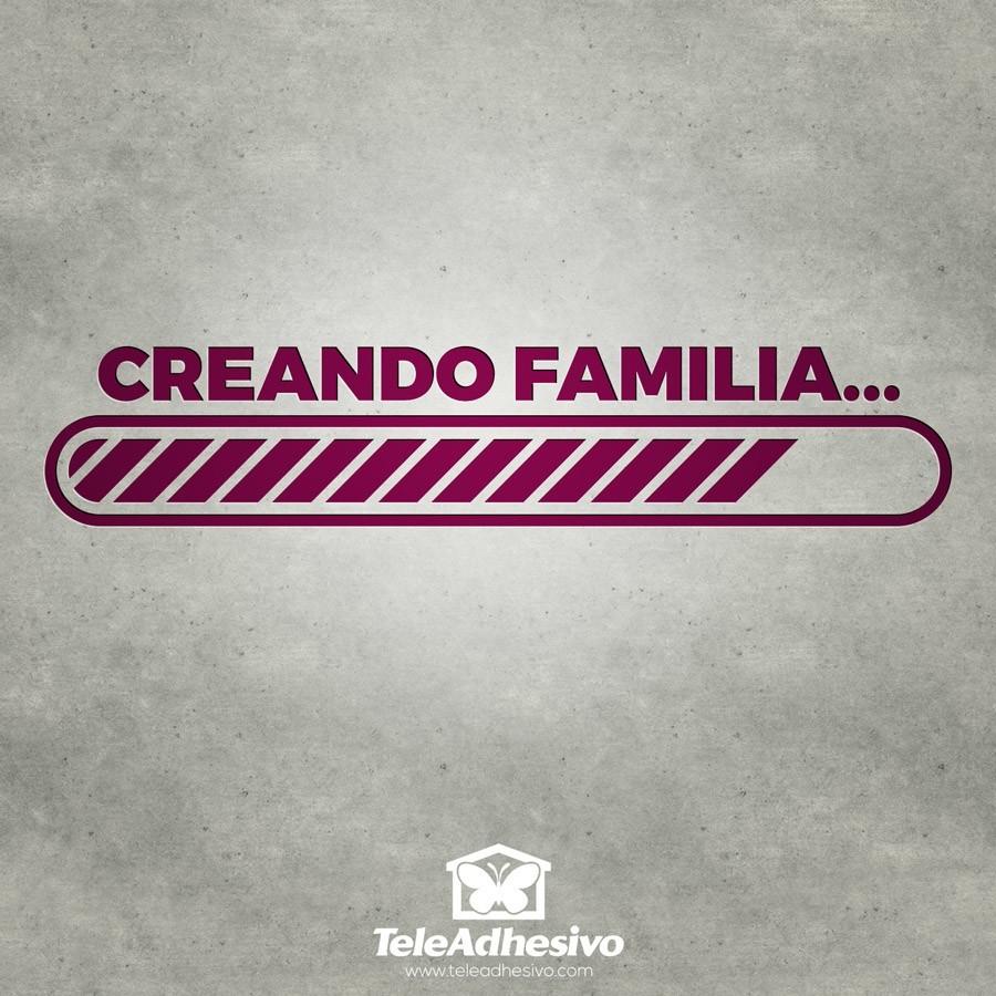 Stickers muraux: Creando familia