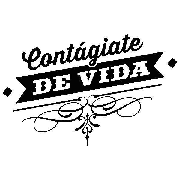 Stickers muraux: Contágiate de vida