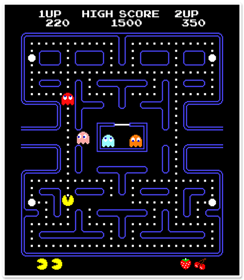 Stickers muraux: Pac-Man Arcade Game Couleur