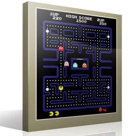 Stickers muraux: Pac-Man Arcade Game Couleur 3