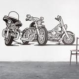 Stickers muraux: 3 Harley Davidson moto 2