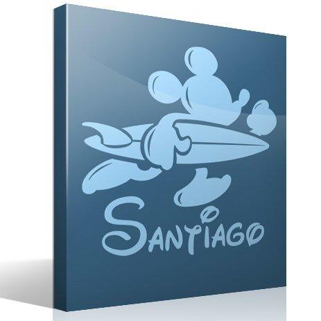 Stickers pour enfants: Personnalisé Surfer Mickey Mouse