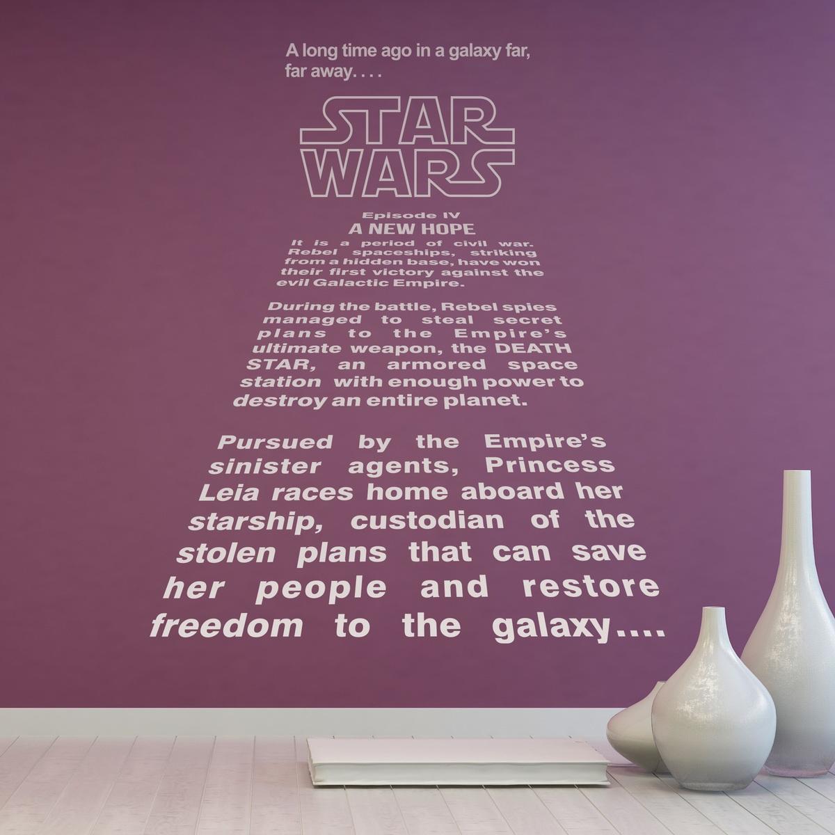 star wars texte d introduction. Black Bedroom Furniture Sets. Home Design Ideas