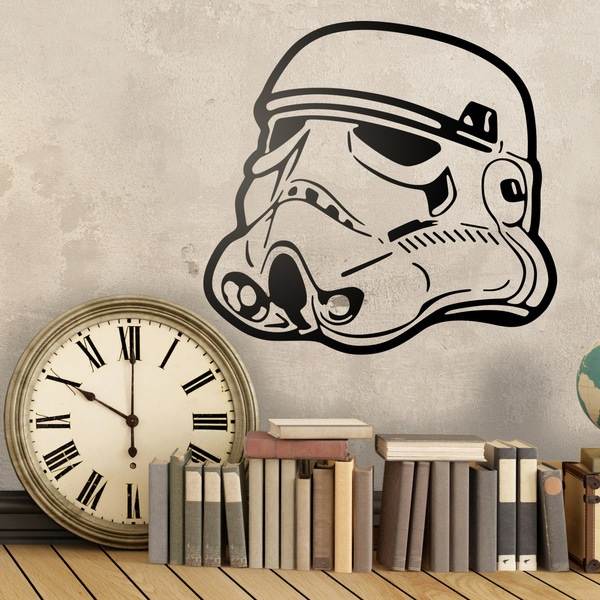 Stickers muraux: Stormtrooper Casque