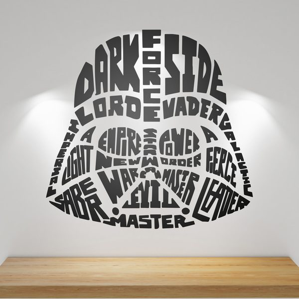Stickers muraux: Typographique Darth Vader