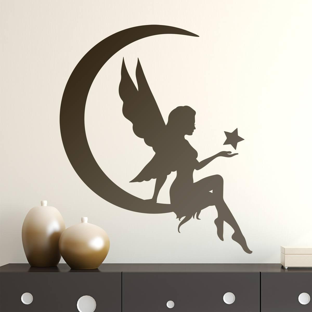 Stickers pour enfants: Fu00e9e sur la lune avec u00e9toile 0