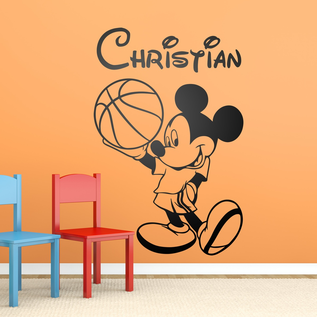 Mickey mouse basket 1 - Micky maus wandtattoo ...