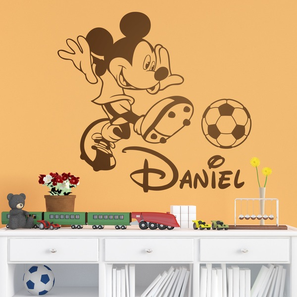 Stickers pour enfants: Mickey Mouse jouant au football