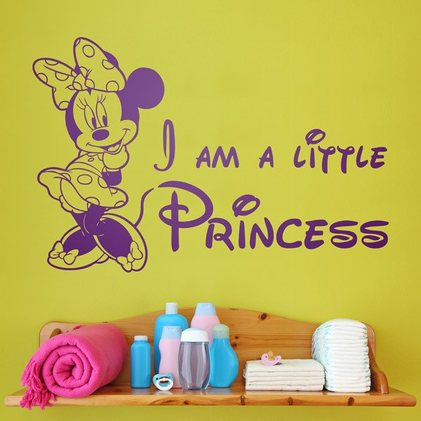 Stickers pour enfants: Minnie I am a little princess 0
