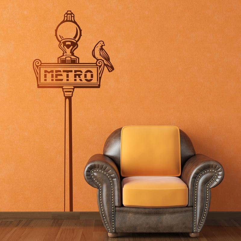 Stickers muraux: Signe Métro de Paris