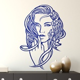 Stickers muraux: Coiffure florale 3
