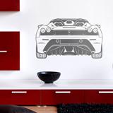 Stickers muraux: Ferrari F430, arrière 2