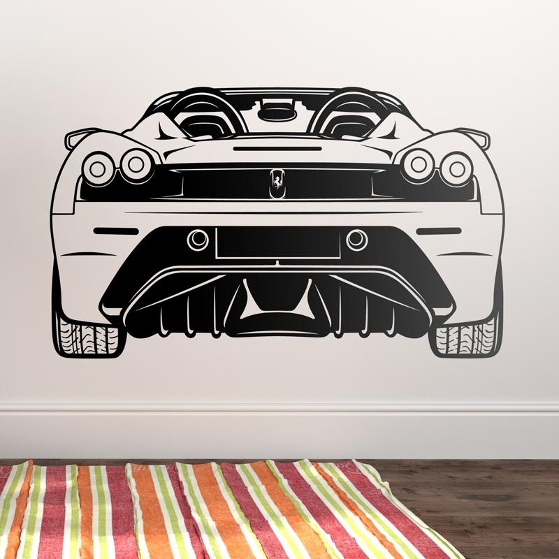 Stickers muraux: Ferrari F430, arrière