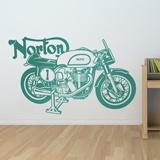 Stickers muraux: Moto classique Norton 2
