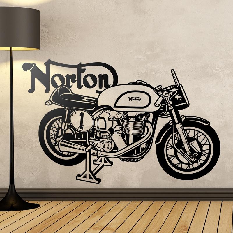 Stickers muraux: Moto classique Norton