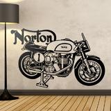 Stickers muraux: Moto classique Norton 3