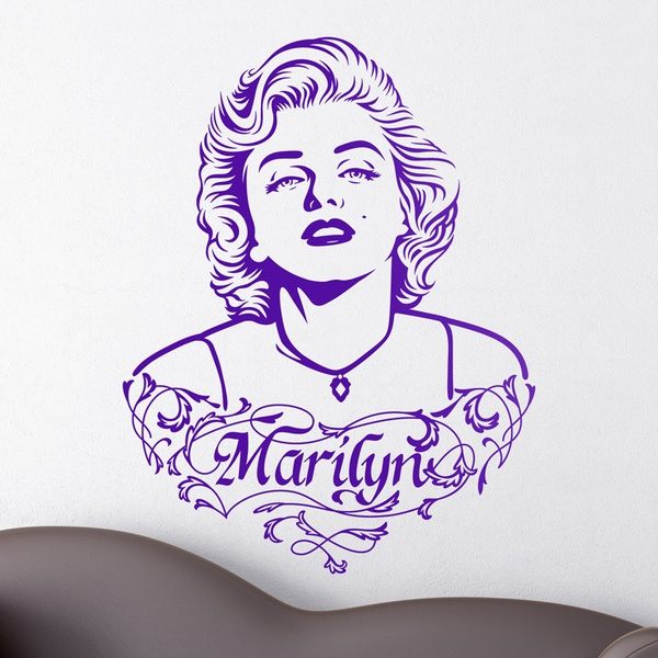 Stickers muraux: Marilyn Monroe Ornements et texte