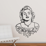 Stickers muraux: Ornements Marilyn Monroe et texte 2