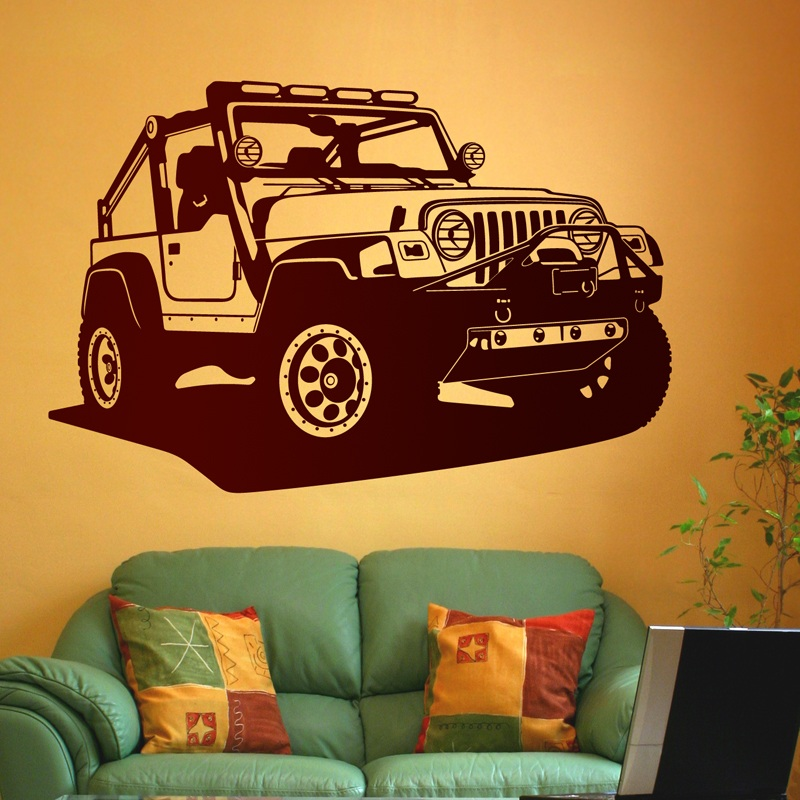Stickers muraux: Jeep Wrangler