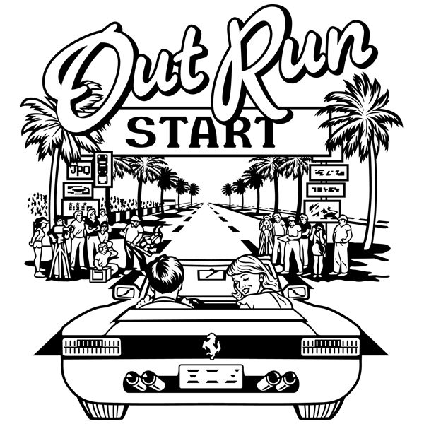 Stickers muraux: Out Run