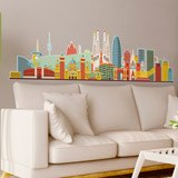 Stickers muraux: Barcelona skyline Couleur 2 3