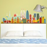 Stickers muraux: Barcelona skyline Couleur 2 5