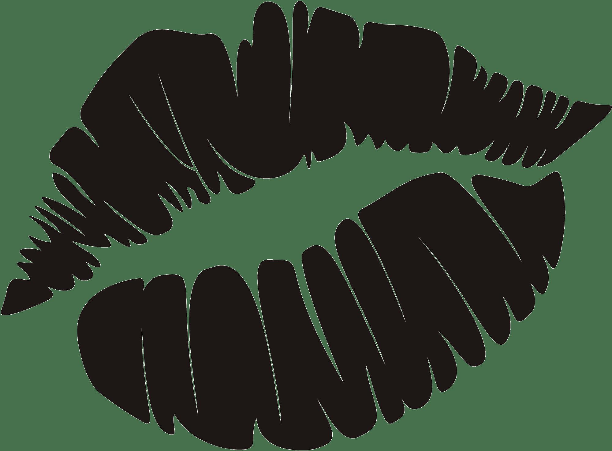Stickers muraux: Lèvres Footprint
