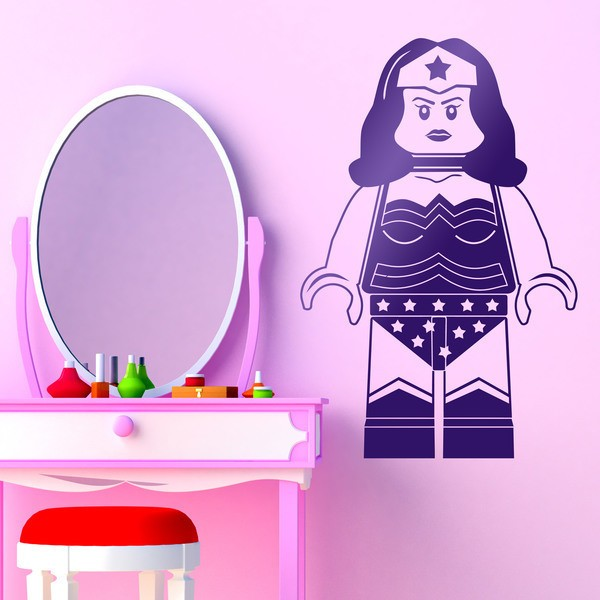Stickers pour enfants: Figurine Lego Superwoman