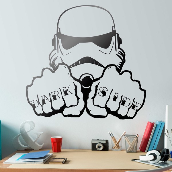 Stickers muraux: Stormtrooper Dark Side mains tatouage