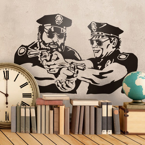 Stickers muraux: Bud Spencer et Terence Hill Police