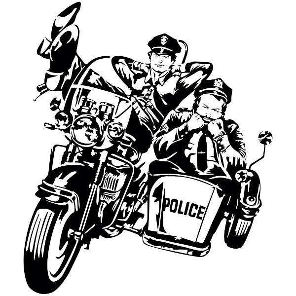 Stickers muraux: Bud Spencer et Terence Hill Police 2