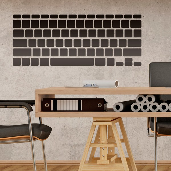 Stickers muraux: Clavier d ordinateur portable