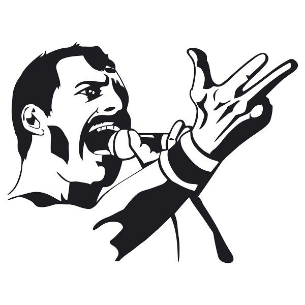 Stickers muraux: Freddy Mercury Queen