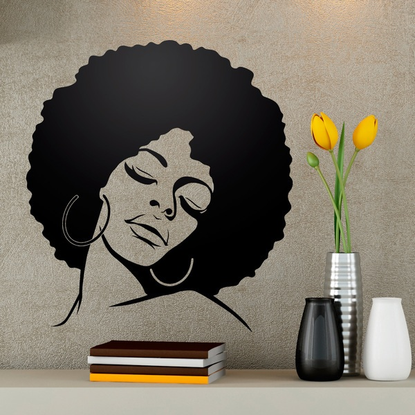 Stickers muraux: Afro coiffure fille