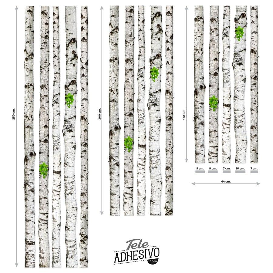 Stickers muraux: Kit 5 grumes de bouleau