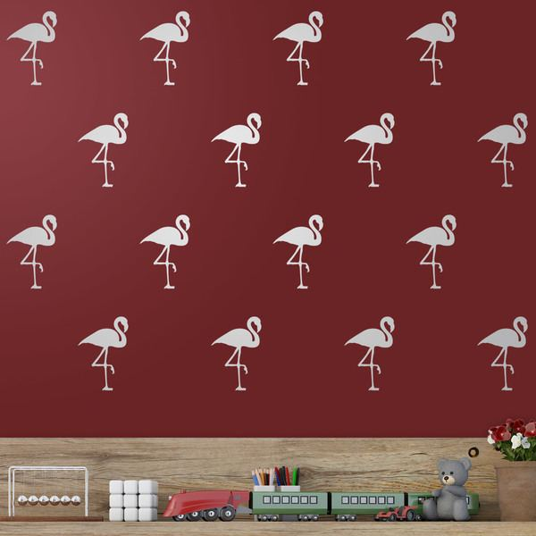 Stickers muraux: Kit 12 stickers Flamants