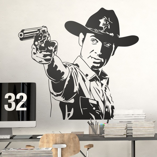 Stickers muraux: Rick Grimes
