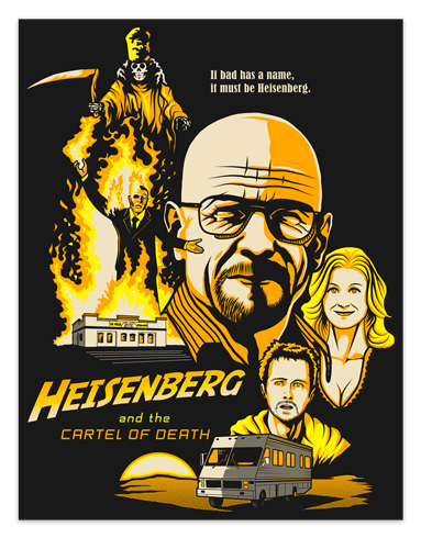 Stickers muraux: Poster adhésif Breaking Bad