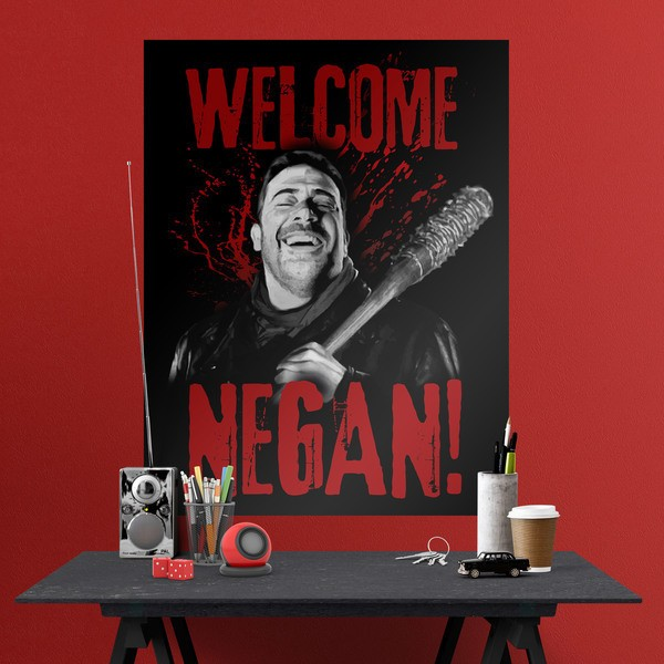 Stickers muraux: Poster adhésif  Welcome Negan TWD