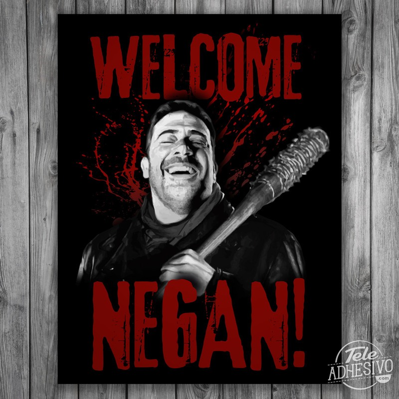 poster adh sif welcome negan twd. Black Bedroom Furniture Sets. Home Design Ideas