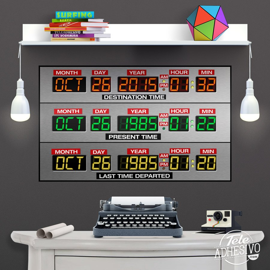 Stickers muraux: Poster adhésif  DeLorean Time Panel
