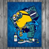 Stickers muraux: Poster adhésif Minion Bomb Box Graffiti 3