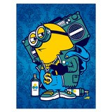 Stickers muraux: Poster adhésif Minion Bomb Box Graffiti 4