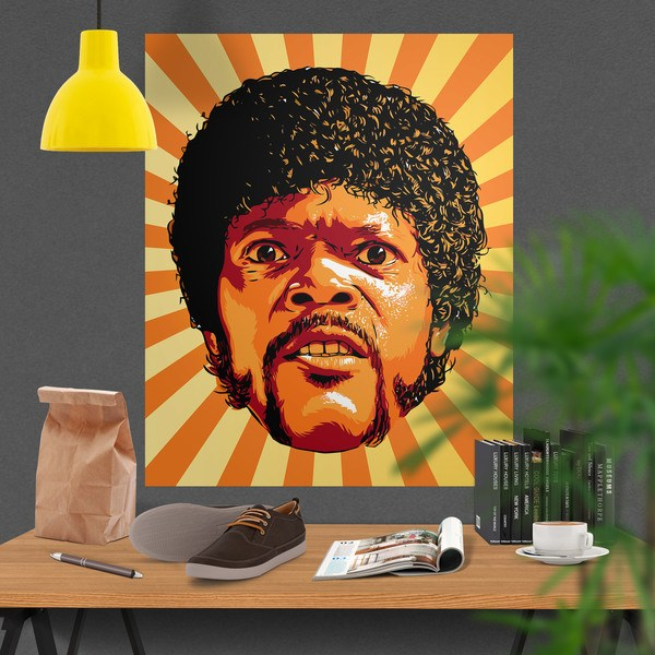 Stickers muraux: Jules Winnfield Pulp Fiction