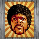 Stickers muraux: Jules Winnfield Pulp Fiction 3