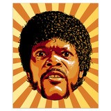 Stickers muraux: Jules Winnfield Pulp Fiction 4