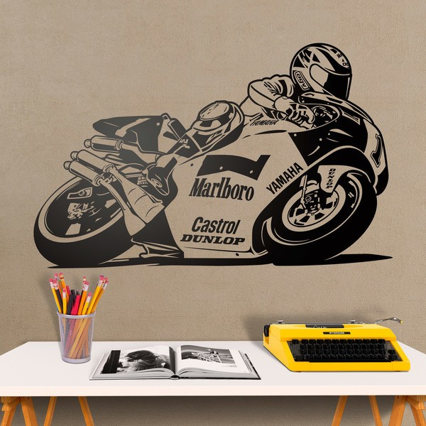 Stickers muraux: Yamaha Moto Wayne Rainey